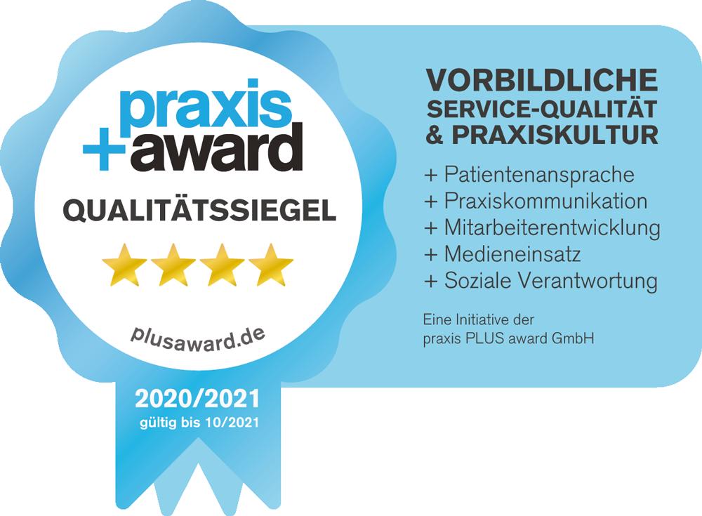 Praxis Award 2020/21 Qualitätssiegel